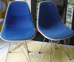Charles Eames Vintage 1960's upholstered chairs with some marks and bolt missing