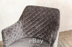 Chenille Dining Chairs Scandinavian Style Upholstered Dining Chairs