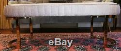 Classic Upholstered Dining room Bench GRAY