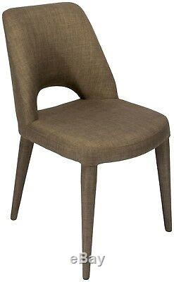 Cloud Taupe Fully Upholstered Dining Chairs x 4 Chairs Set Clearance Price