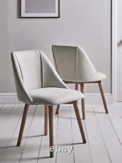 Cox & Cox Two Stone Ash Upholstered Padded Dining Chairs RRP £525