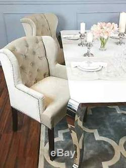 DINING CHAIR KATY premium class upholstered dining chair back ring quilted