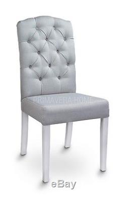 DINING CHAIR SALLY premium class upholstered dining chair back ring quilted