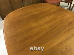 Danish Dining Table and 6 Chairs -NEWLY UPHOLSTERED 60s 70s Teak Extending