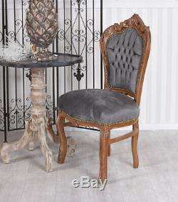 Dining Chair Baroque Upholstered Velvet Antique
