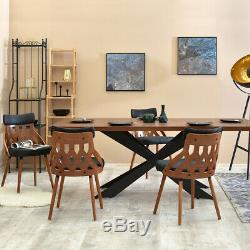 Dining Chair CRABI Upholstered Chair Decorative Kitchen Chair Walnut Black