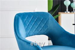 Dining Table and Dining Chair Set of 2 4 Velvet Armchair Upholstered Chair Retro