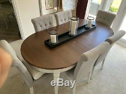 Dining Table and Fully Upholstered Chairs 6