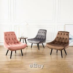 Dining or Occasional Upholstered Chairs French Velvet Accent Chair Bedroom Sofa