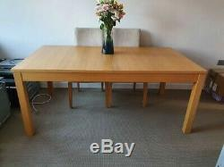 Dining table, IKEA, extendable, Oak, with 6 x upholstered dining chairs