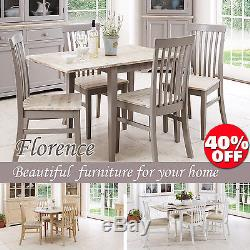 FLORENCE, Stunning rectangle extended kitchen dining table and chairs, sits upto 4