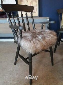 Farmhouse Kitchen Dining Room Chairs, Upholstered, Set Of 6