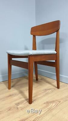 Four Vintage Danish Teak Style Dining Chairs Retro Chairs Upholstered