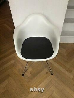 Four Vitra Eames Upholstered Armchairs Dar Eiffel White