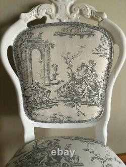 French Louis Style Shabby Chic Chair Bedroom Dining Upholstered Chair