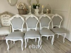 French Louis Syle Shabby Chic Chair Bedroom Dining Upholstered Decorative Chair