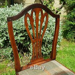 Georgian Period Chippendale Style Elm Upholstered Country Dining Chair C18th