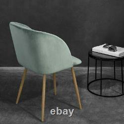 Green Velvet Dining Chair Retro Velvet Dressing Table Chair Upholstered Armchair