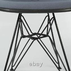 Grey Set (6) Herman Miller Original Eames Upholstered Black DSR Side Shell Chair