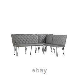 Grey Studded Back Dining Bench Set BUN/FOL101925/77522