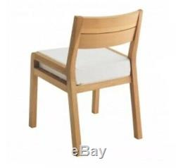 HABITAT Radius Solid Oak Dining Chair Upholster seat NOW £100.00 collect WF119HS