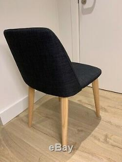 Habitat 4x Luther dark gray upholstered dining chairs nearly new