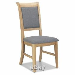 Hatfield Oak Furniture Set of Four Upholstered Dining Room Chairs