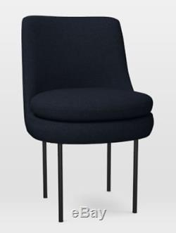 John Lewis Modern Curved Upholstered Dining Chair, Indigo RRP £299