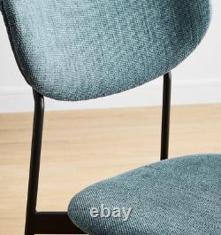 John Lewis Modern Petal Upholstered Dining Chair, Blue Stone / Bronze RRP £209