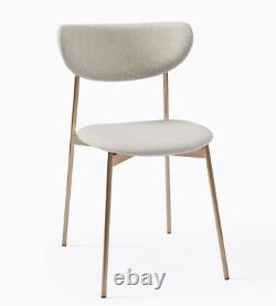 John Lewis Modern Petal Upholstered Dining Chair, Natural Crosshatch RRP £209