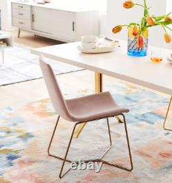 John Lewis & Partners Slope Upholstered Dining Chair, Light Pink RRP £299