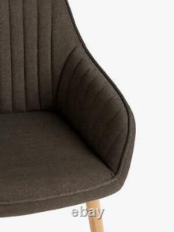 John Lewis & Partners Toronto Dining Armchairs, Set of 2, Earth (Retail at £299)