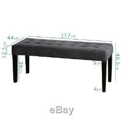 Kaylee Grey Velvet Dining Bench with Black Legs KLE006