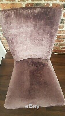 Laura Ashley Addington dining chair in Caitlyn grape upholstered fabric x4