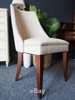 Laura Ashley Home Upholstered Dining Occasional Bedroom Chair Linen Stripe
