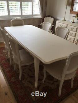 Stupendous Laura Ashley Provencale Ivory Extending Dining Table 6X Unemploymentrelief Wooden Chair Designs For Living Room Unemploymentrelieforg