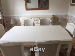 Laura Ashley Provencale Ivory Extending Dining Table 6x