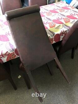 Laura Ashley Wordsworth Leather Look Dining Chairs x6
