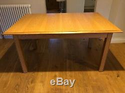 Marks & Spencer Oak dining table and 6 upholstered chairs