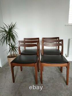 Mid Century Teak Dining Chairs X 4