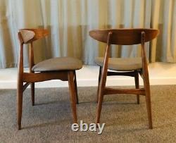 Mid Century style set of 2 Upholstered Dining Chairs
