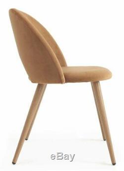 Mmilo Pamela Upholstered Dining Chair, Caramel (Set of 2)