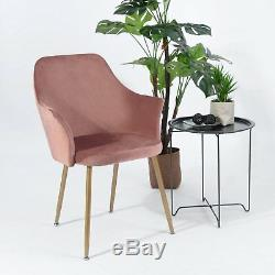 Modern Style Upholstered Armchair Velvet Fabric Accent Dining Chair Office Chair