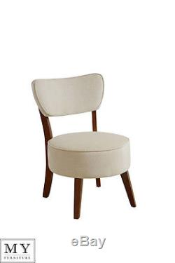 My-Furniture Ennya Smoke Grey / Latte Upholstered Round Occasional Chair