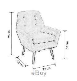 My-Furniture Retro upholstered armchair VIVIENNE