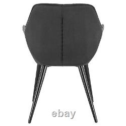 NAVY Modern Dining Chair Upholstered Kitchen Chair with Armrests Colorful
