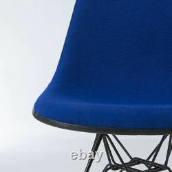 Navy Blue Pair Herman Miller Original Eames Upholstered DSR Side Shell Chair
