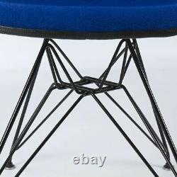 Navy Blue Set (6) Herman Miller Original Eames Upholstered DSR Side Shell Chairs