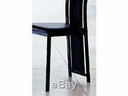Noir Extending Dining Table & 6 Black/Chrome Upholstered Chairs