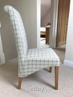 Oak Veneer Dining Table and 4 x NEXT Upholstered Dining Chairs